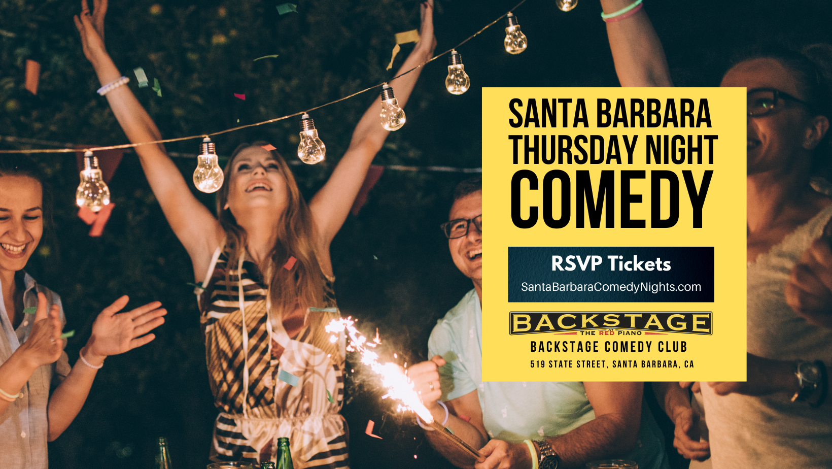 Stand up Comedy, Every Thursday at The Backstage Comedy Club, State Street, CA